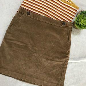 Banana Republic Corduroy Camel skirt size 0